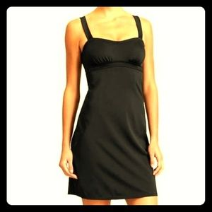 Athleta Black Pura Swim Dress Sz 32 D/DD